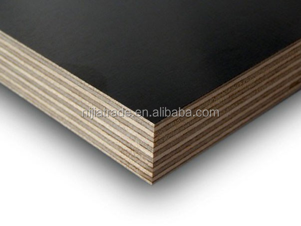 Waterproof construction plywood 13mm building materials black or red film faced plywood supplier of China for promotion