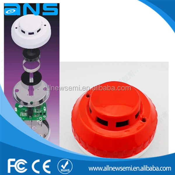 DC9-35V relay output 4 wire Stable Photoelectric smoke detector