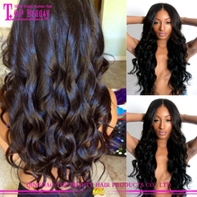 Qingdao factory supply cheap brazilian human hair full lace sew in wig completely hand made full lace wig sew in