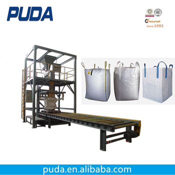 Vibrate feeder 1000kg jumbo bag automatic cement packing machine