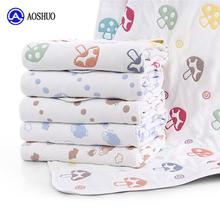 Binding Baby Fabric Swaddle Hospital Bed Sheet Muslin Pique Terry Blanket Cotton