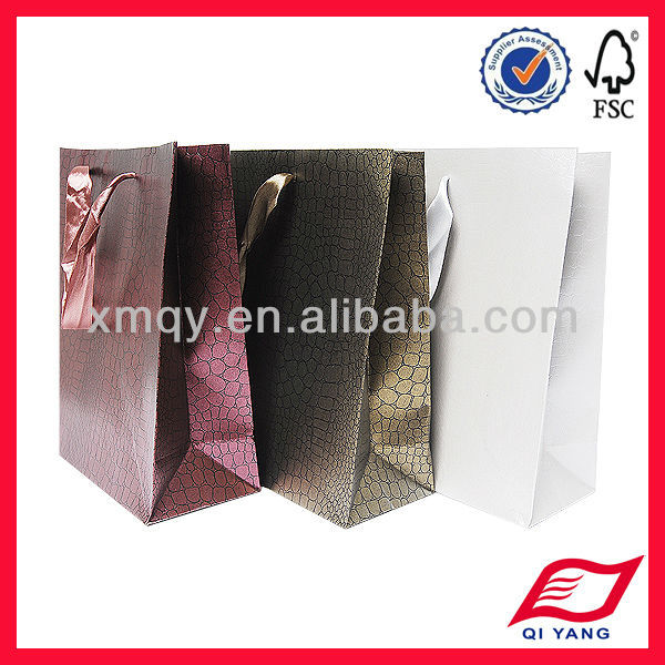 snake skin paper bag with handle for gift