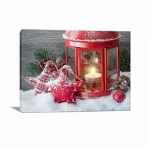 Shinny Favorable Canvas Painting Nice Christmas Lights Outdoor Led