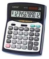 Solar Power Big Calculator 12 digits Metal Panel with Rubber side