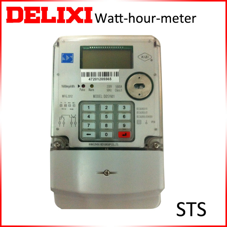 Single-phase 2 wires Keypad Prepayment digital electric meter reverse