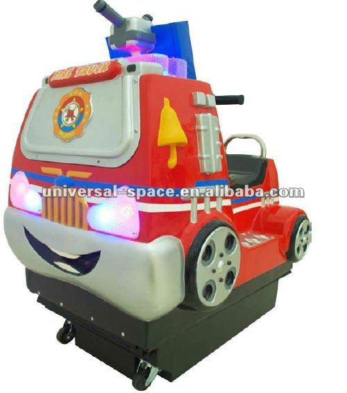 Mini Fire Truck Amusement Game and Kiddie Ride Machine