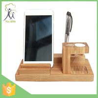 Multifunction 3 in 1 wood stand holder for Apple watch charging dock station for iPhone 6S