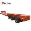 Factory price semi trailer high performance 60ton 3 axle low bed low boy truck trailer with hydraulic ladder