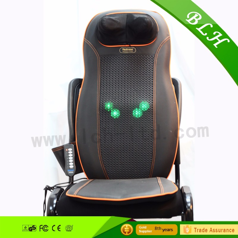 Best selling ! Vibrate portable massage chair cushion type personal massager for car with 4 back massage balls