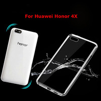 Soft Transparent TPU Blank Phone Case For Huawei Honor 4X Silicon Back Cover Case