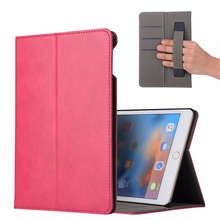 PU Leather Wallet Stand Cover Case for iPad mini 5 with Handle