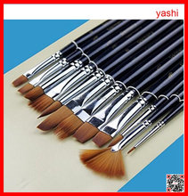 Alibaba 2016 artist synthetic hair wooden watercolor painting brush