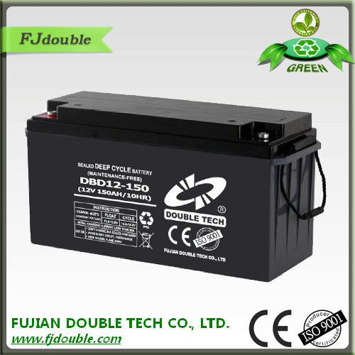 Specializing in the production of various types of battery battery maintenance free agm deep cycle 12v 150ah battery