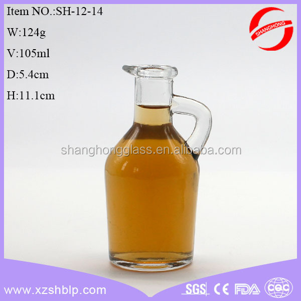 105ml small clear elegant olive glass oil bottle for kitchen