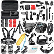 2017 HOT go pro accessories set for GoPros Hero4 Session 3+ 4 SJ4000 5000 6000 7000, go pro kit accessories