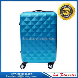 ABS scarched pattern 4wheels TSA lock ABS PC travel luggage ,suitcase set