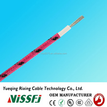 Made in china UL certificate heat resistance fiberglass braid silicone rubber insulation wire