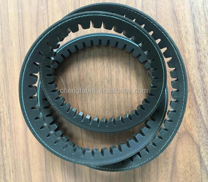 EPDM CR raw edge rubber cogged v-belt for industrial machines