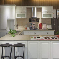 High quality modular solid wood kitchen cabinet