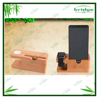 bamboo/wooden holder for mobile and watch
