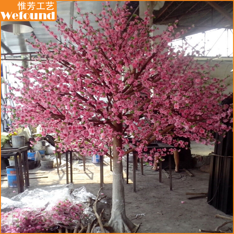 WEFOUND CB50712 artificial pink cherry blossom trees for wedding decoration