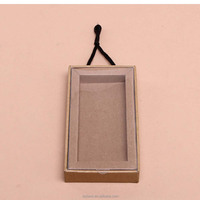 high-end kraft paper mobile power packing with handdle
