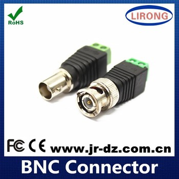 CCTV Camera screw terminal Bnc Male Plug Connector