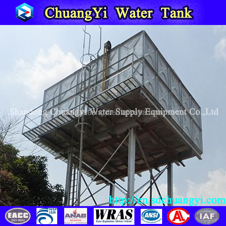 2016 new type and design strong design steel frame water tank, elevated steel water tank, water tank steel structure