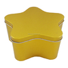 Christmas decoration gift cookie packing star shape tin container