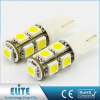 High Intensity Ce Rohs Certified Super White Light Bulb 12V T10 W5W 5050 5 Smd Led Wholesale
