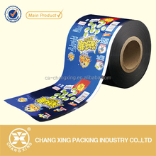Best selling soft plastic metallized laminated food packing printed roll film for milk candy/banana chips