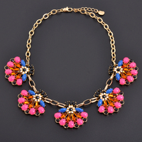 2017 Flower Necklace China Jewerly Factory