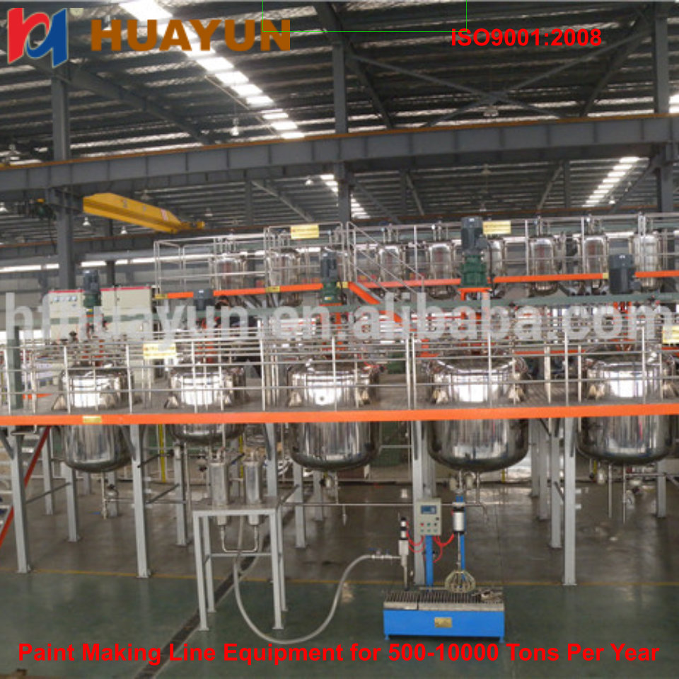 Brazil paint mixing machines production line supplier wall paint mixing production equipment with factory price