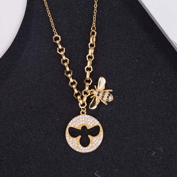 AP22571 wholesale gold plated 925 sterling silver initial necklace jewelry Dropshipping