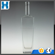 BEST SALE TRANSPARENT BRAND YOUR OWN VODKA/RUM/GIN/TEQUILA GLASS BOTTLE 750ML