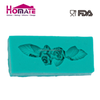 Silicone bouquet rectangle fondant mould,cake decorating supplies