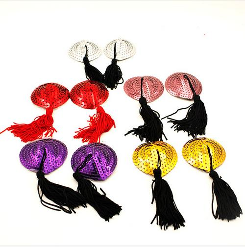 Sticky Paillette Decorative Fashion Nipple Cover Tassel