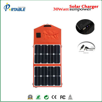 High efficency 23% Sunpower 30W folding solar panel