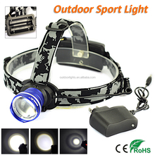 Outdoor Sport Light Boruit Rechargeable LED Headlamp Zoomable Head Lights for Camping, Hiking, Runing RJ-2190