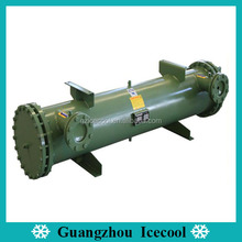 15HP Shell and tube water-cooled condenser for cold room water cooled condenser unit