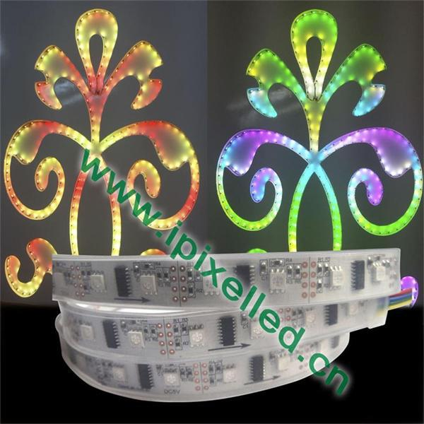 5V 48 leds addressable Flexible LPD8806 LED Strip silicon tube waterproof