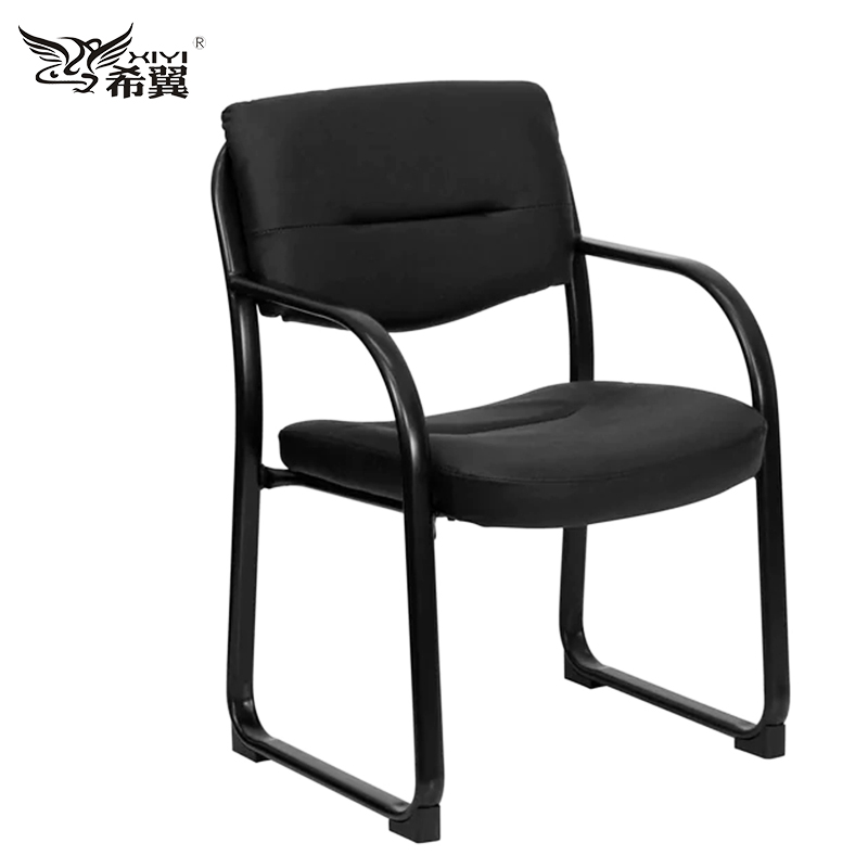 Powder coating medical office waiting room chair with black frame for visitors
