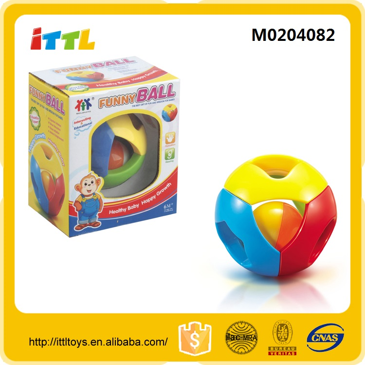 ABS material plastic baby rattle toy ,non-toxic funny rattle ball