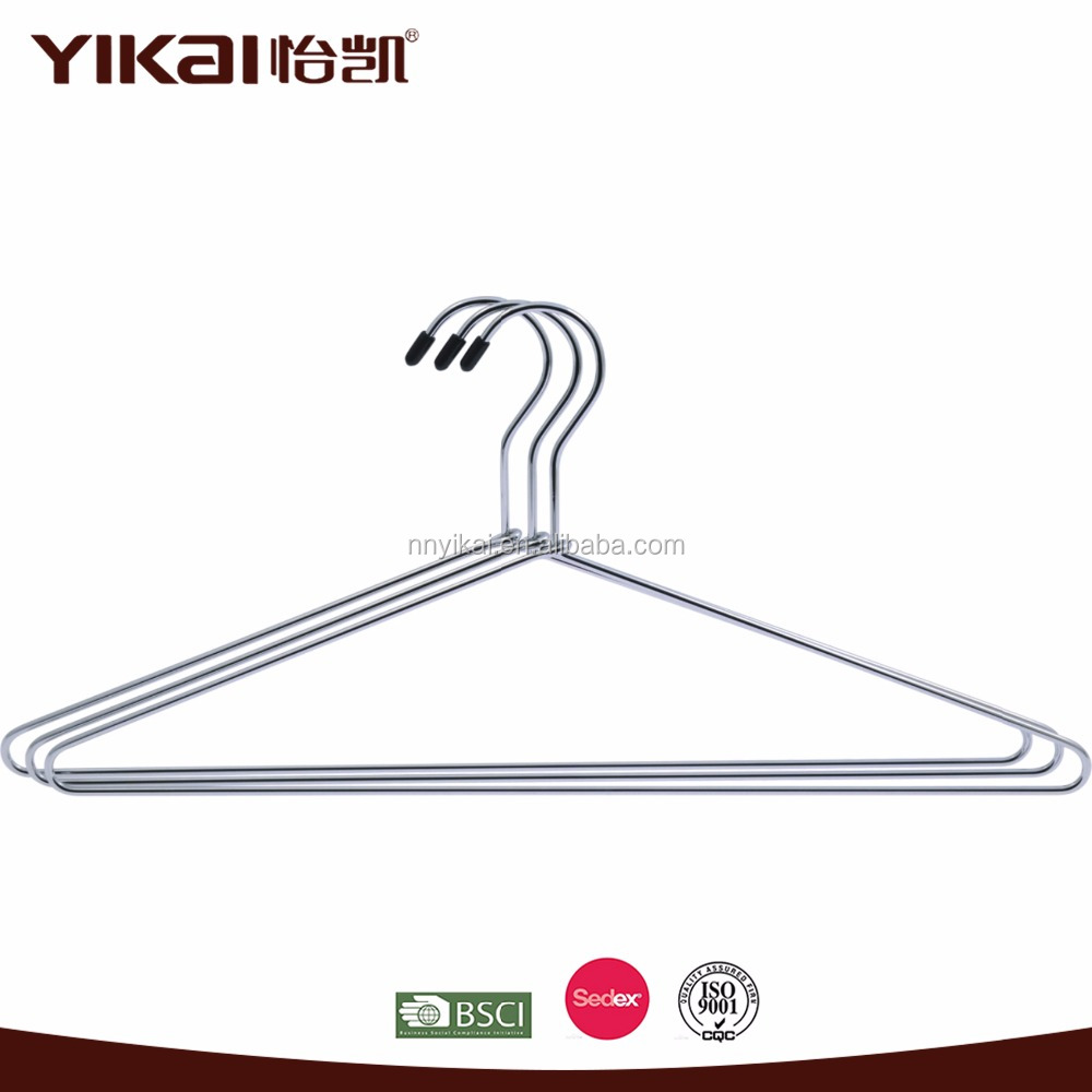 China hanger supplier Yikai Chrome coat metal wire hangers for laundry