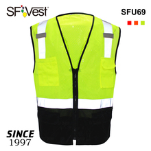 Color cheap warning clothing work wear fabric adult uniform vest with pockets reflective safety workwear