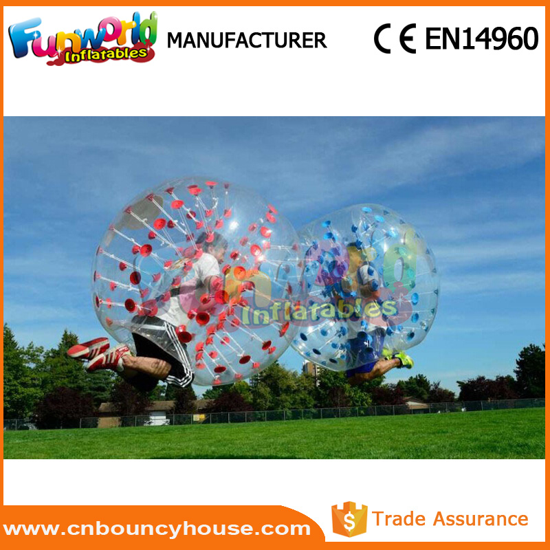 Full color transparent bumper loopy ball Body zorbing Football
