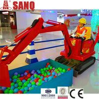 Amusement Park Excavator Children Rides Game Machine/Coin Operated Music Children Excavator Rides