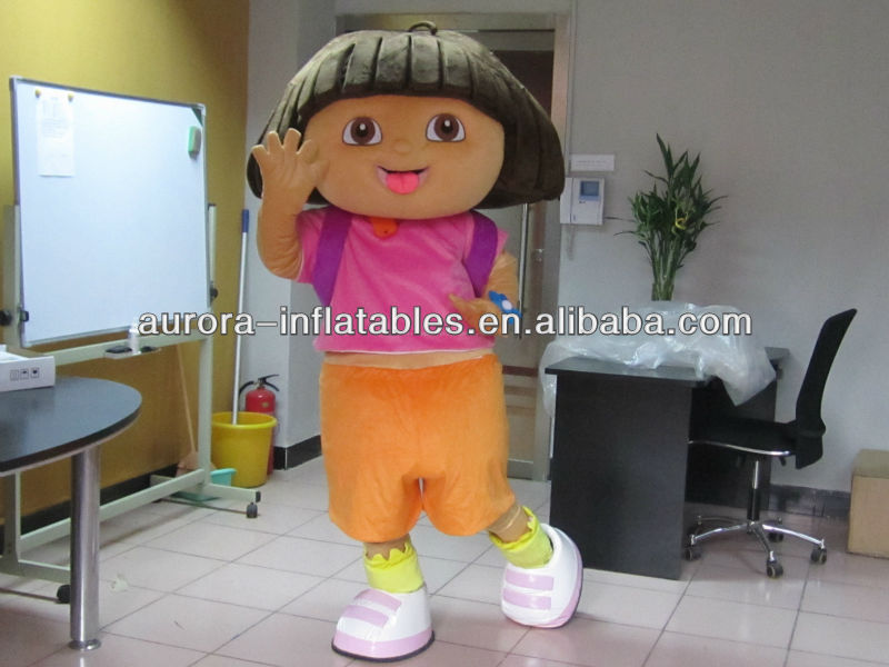 DORA mascot costume plush cartoon role playing clothing polyfoam head