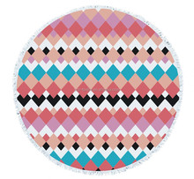 hot sale design your own printed round beach towel