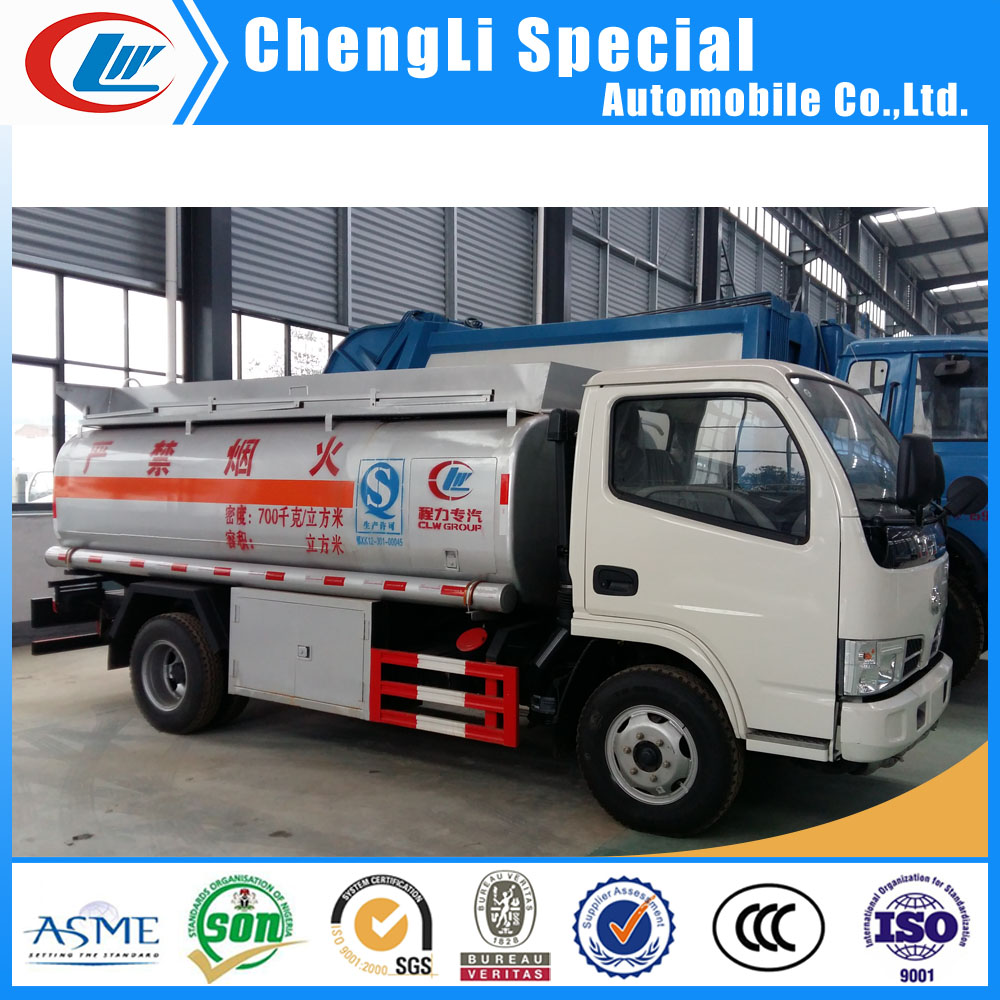 small fuel oil petroleum gasoline bowser tank truck 4m3 5cbm 5000 liters diesel bowser truck for sale